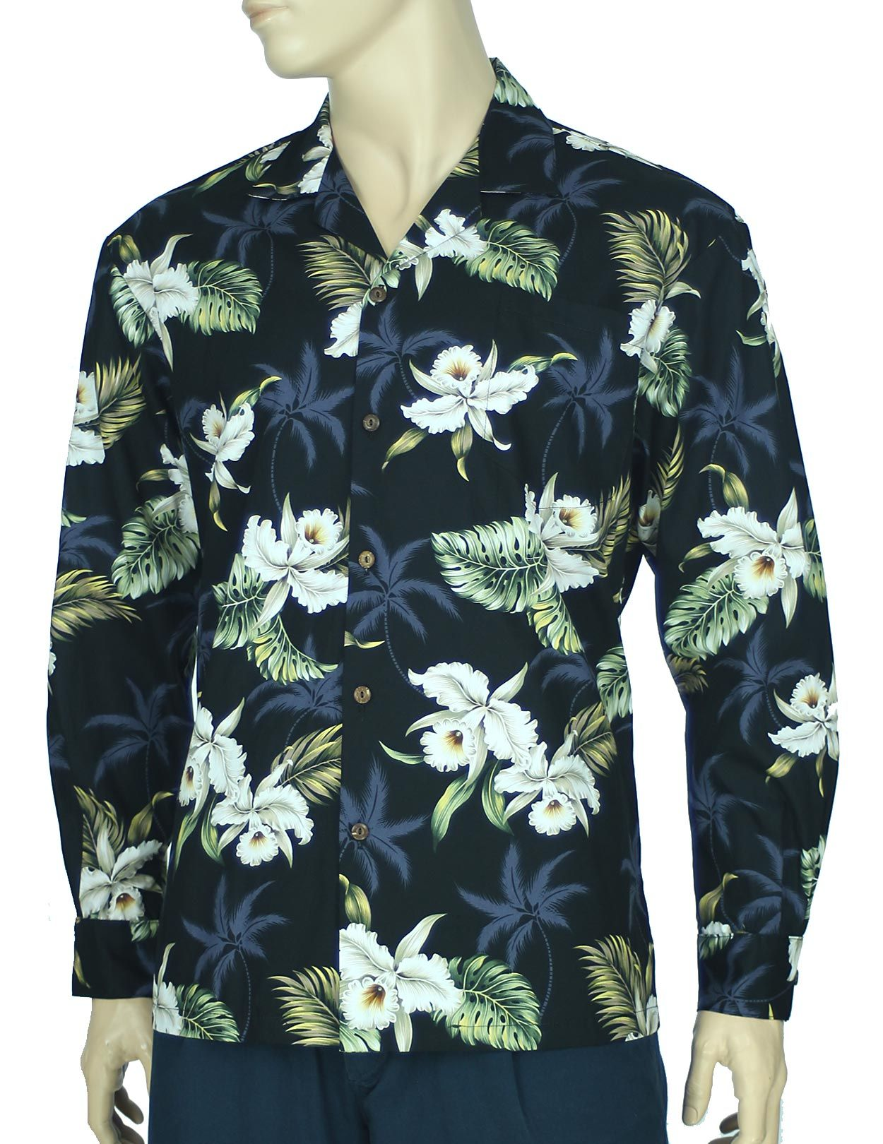 fe237dd276 Check out the deal on Long Sleeve Aloha Shirt Maui Orchids at ...