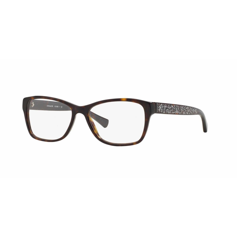 c64f828fa18 Coach Womens HC6068 5120 Havana Plastic Rectangle Eyeglasses - Blue ...