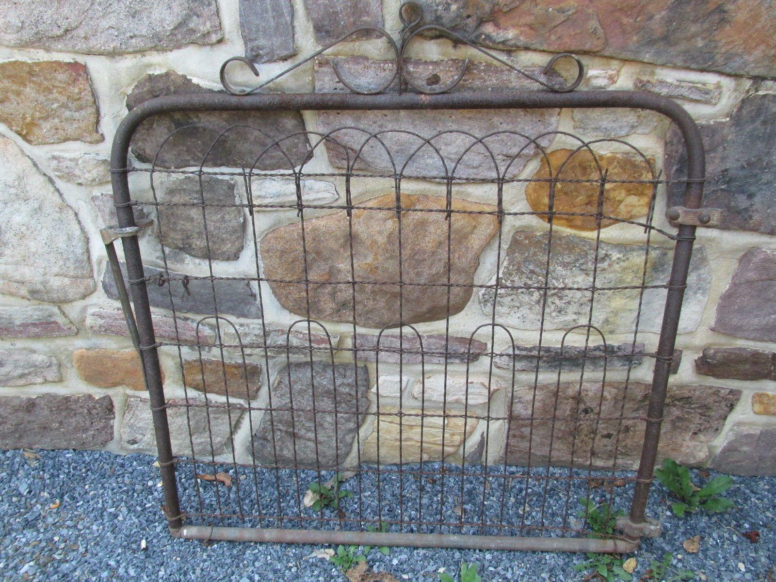 Vtg Wire Garden Yard Art Gate Cottage Style Architectural Fence ...