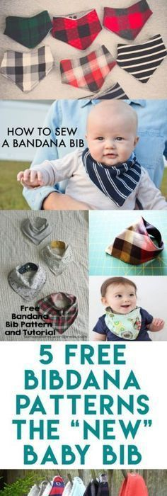 """5 Baby Bibdana Free Patterns 