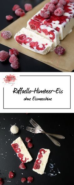 Ein Raffaello-Himbeer-Eis zur WM-Party #dessertideeën