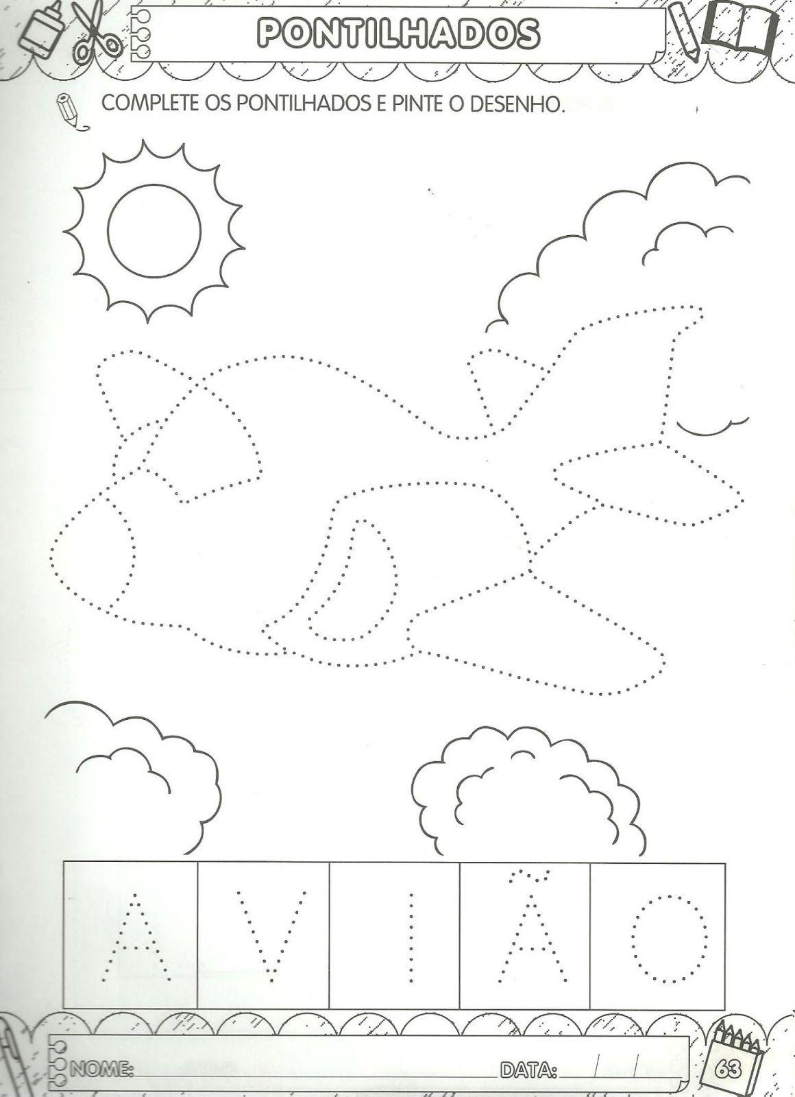 Arte De Educar Pontilhados Para Maternal