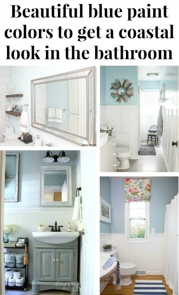 The Best Coastal Blue Paint Colors For The Bathroom Green With Decor Best Bathroom Paint Colors Farmhouse Style Bathroom Decor Blue Paint Colors