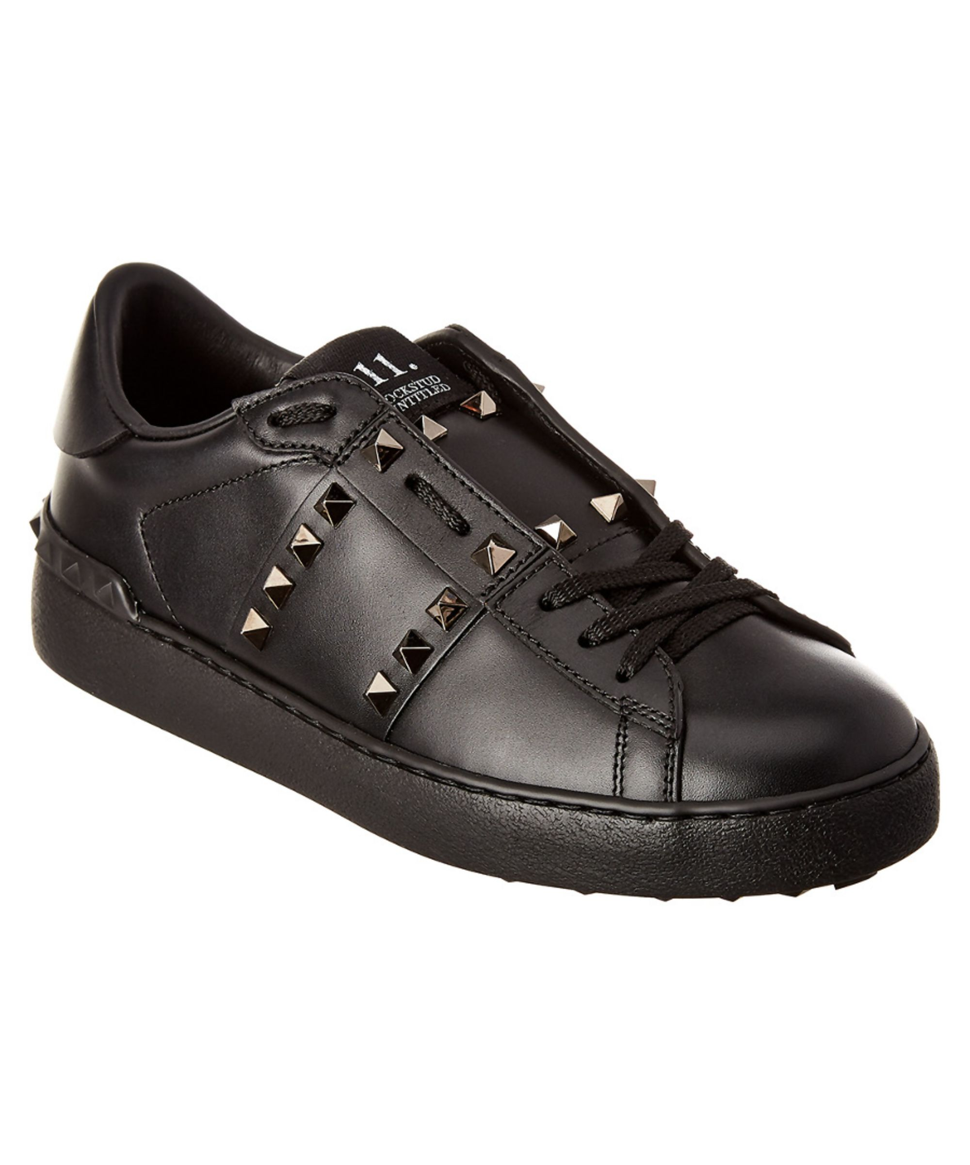 f879f09577b30 VALENTINO | Valentino Rockstud Untitled Noir Leather Sneaker #Shoes #Oxford  #VALENTINO
