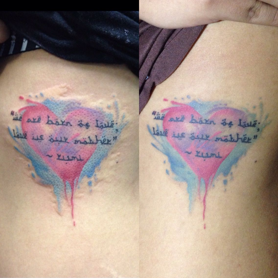 Before And After Healing Tattoos Tattoo Letteringtattoo Quotes