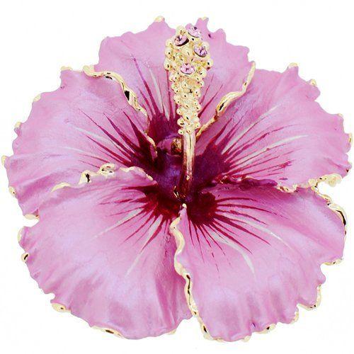1a702254243 Violet Hawaiian Hibiscus Swarovski Crystal Flower pin brooch and Pendant  Fantasyard. $19.99. Other color available. Exquisitely detailed designer  style.
