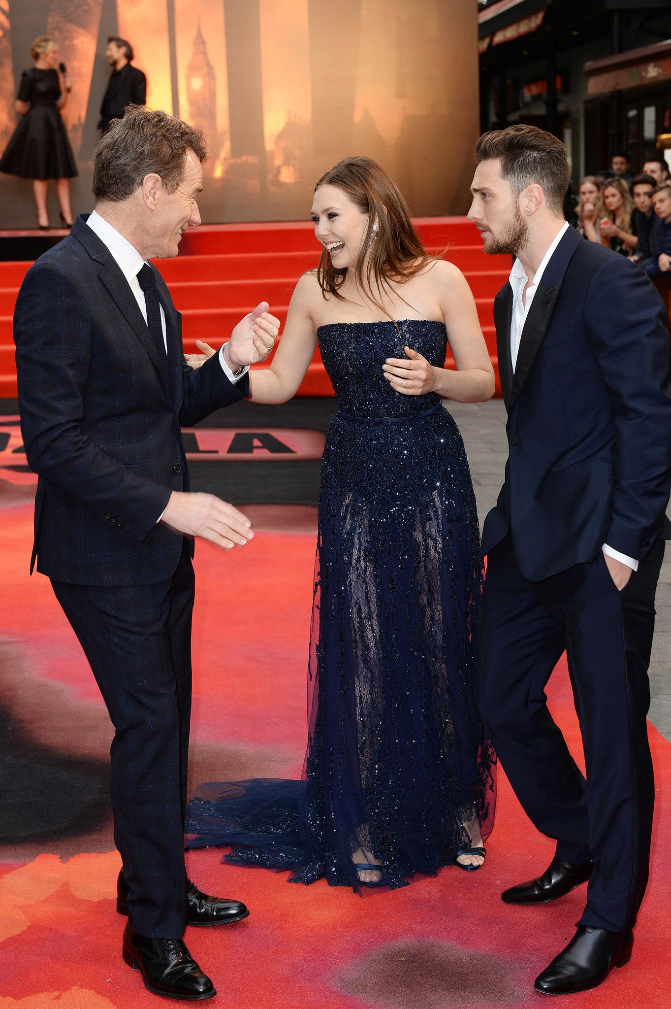 Elizabeth Olsen Goofed Around With Bryan Cranston And Aaron With