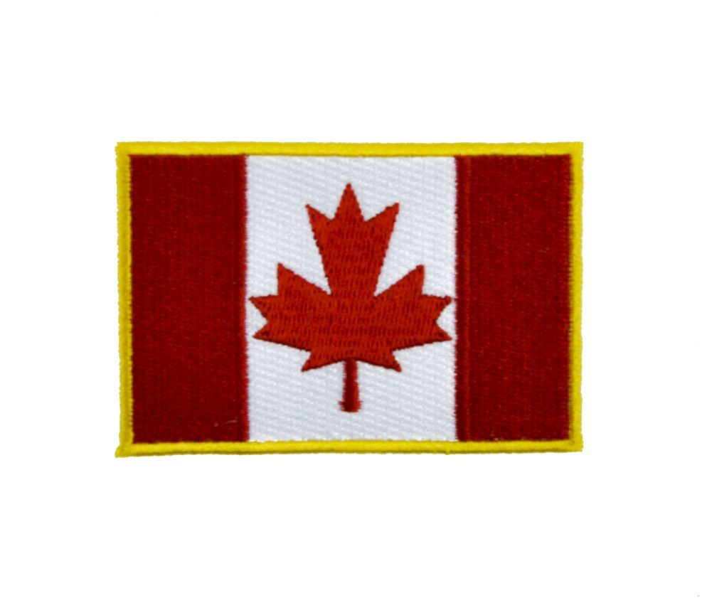 Canadian flag maple leaf patch iron on applique