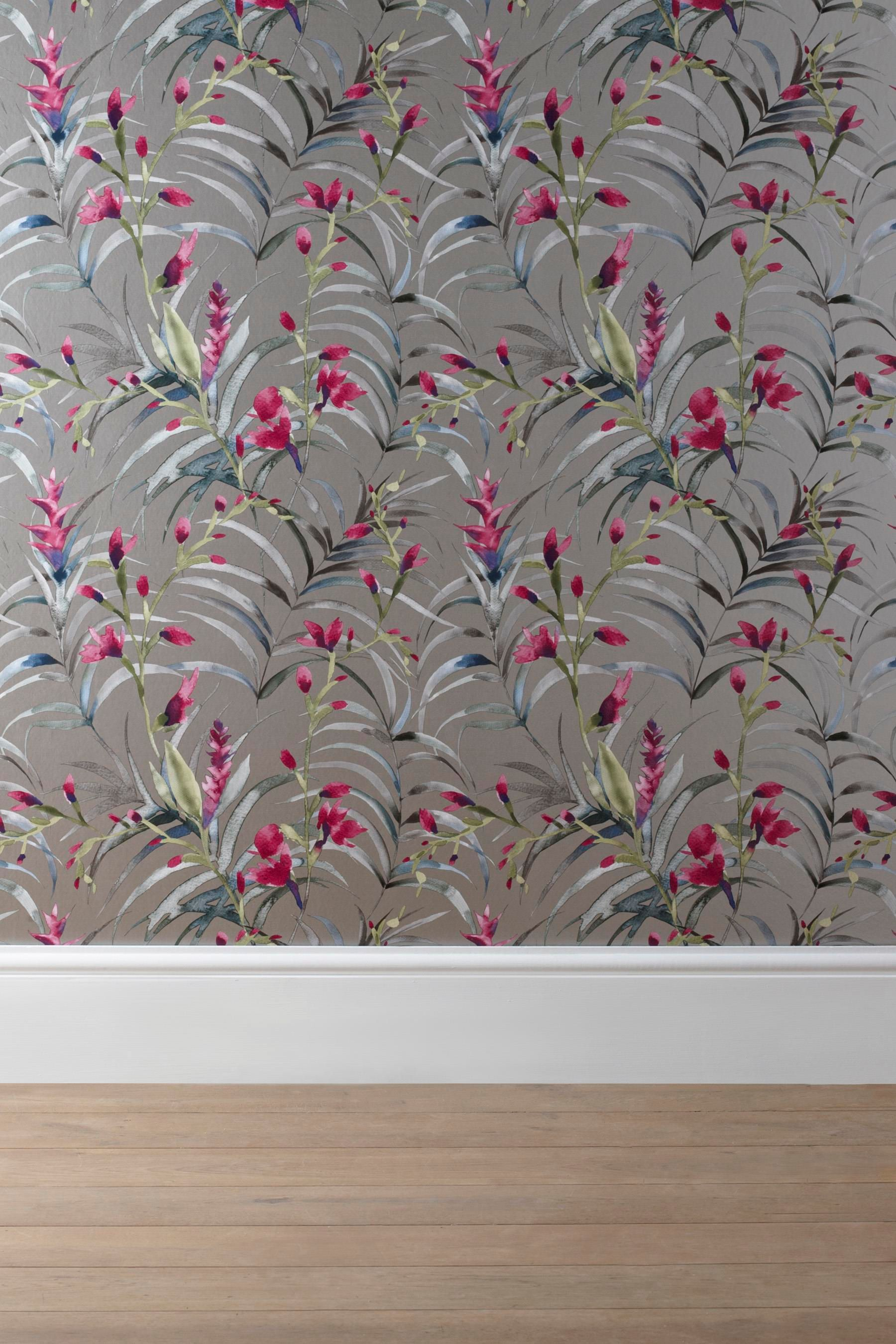Next Bedroom Wallpaper Buy Pink Tropical Floral Wallpaper From The Next Uk Online Shop