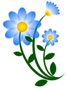 free clipart blue flowers products i love pinterest blue rh pinterest com blue flower border clipart blue flower clips