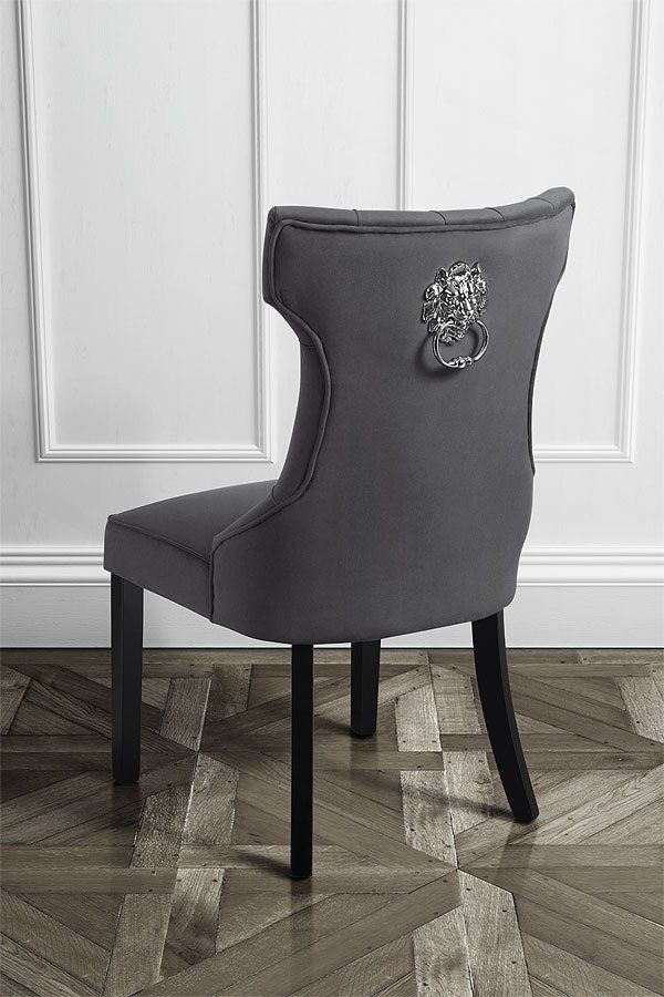 Venice Chair With Decorative Lion Handle Storm Grey 139 99