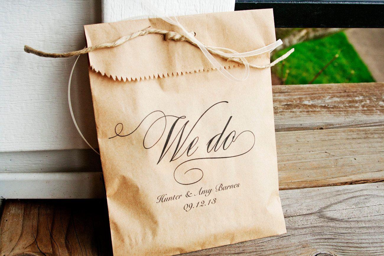 We Do Kraft Paper Favor Bags Wedding Favor Bag 25 by mavora ...