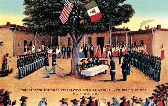 The Gadsden Purchase Known As Venta De La Mesilla In Mexico Is A