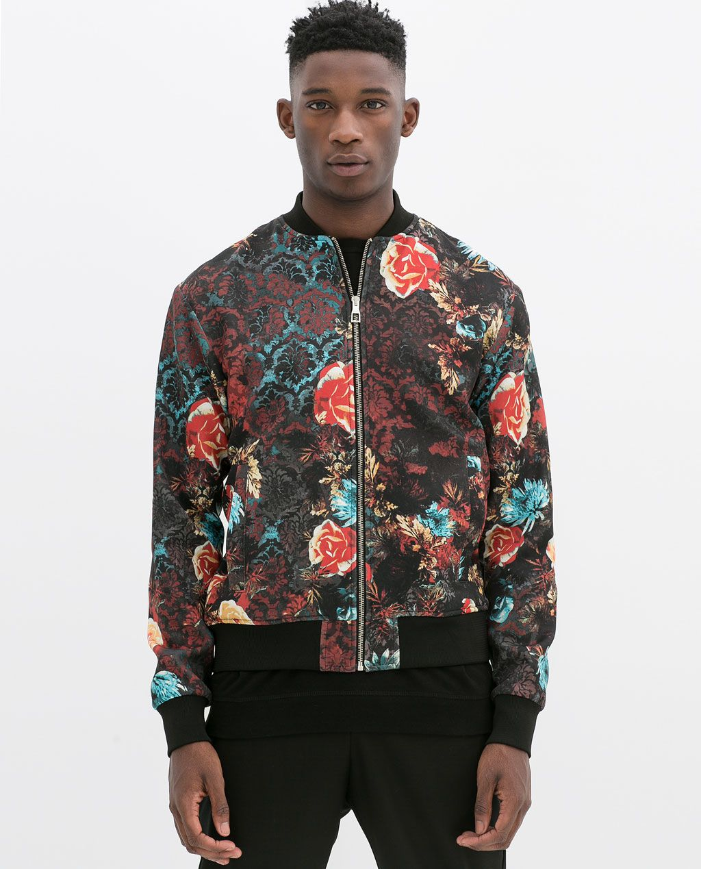 2d7f442bf 89.90 FLOWER BOMBER JACKET from Zara | Prints in 2019 | Zara bomber ...