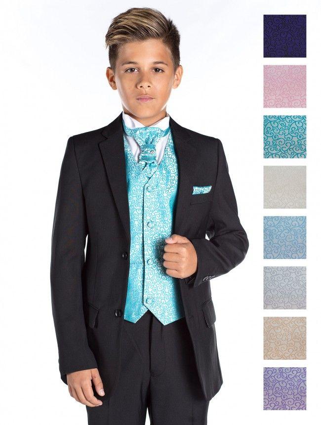 Boys black wedding suit - Charles   Boys black suit, Black suits and ...