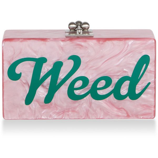 Edie Parker     Jean Weed Clutch ($1,295) ❤ liked on Polyvore featuring bags, handbags, clutches, light pink, acrylic purse, pink purse, lucite purse, lucite handbags and light pink handbags
