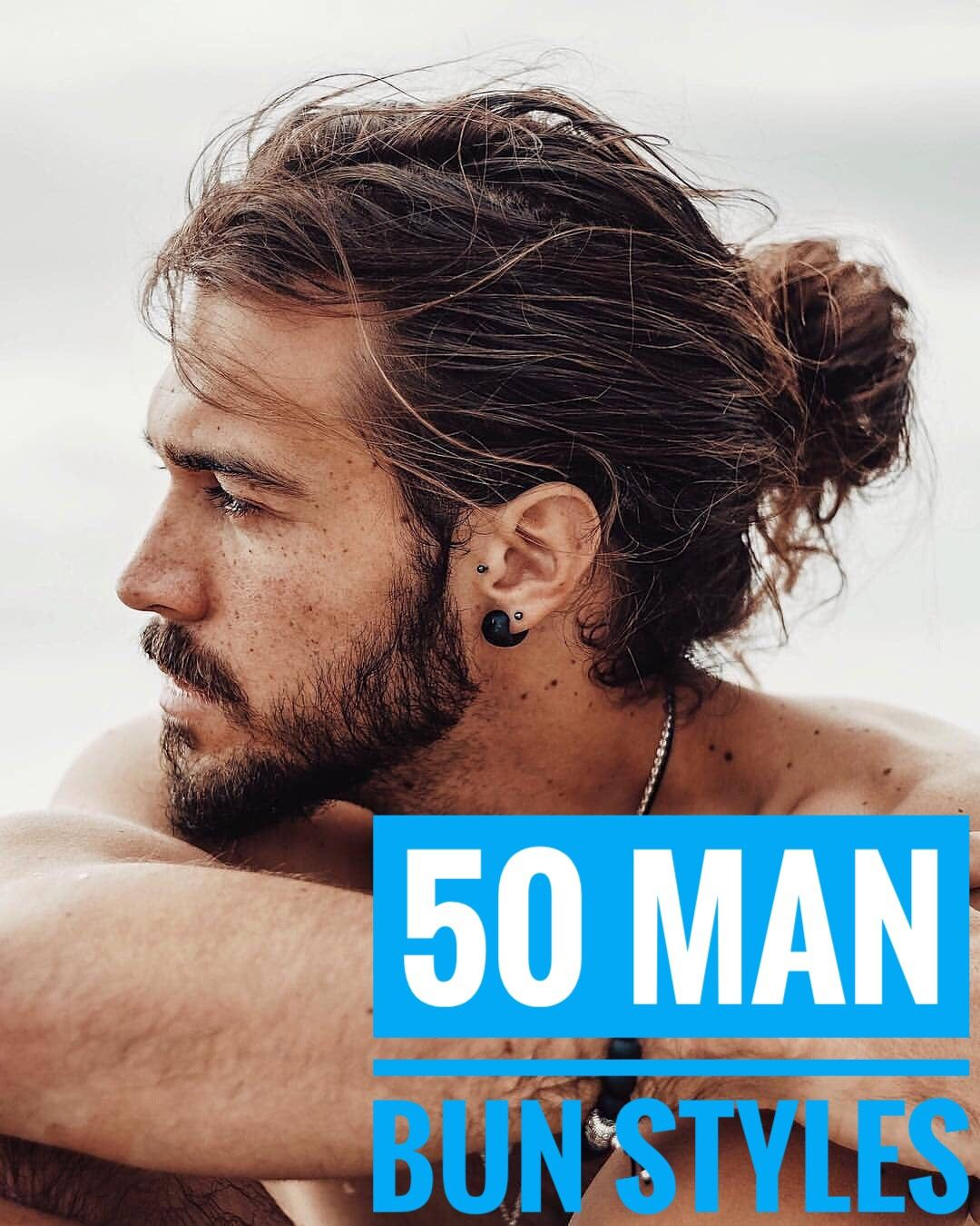 50 Handsome Man Bun Hairstyles - Men Hairstyles World