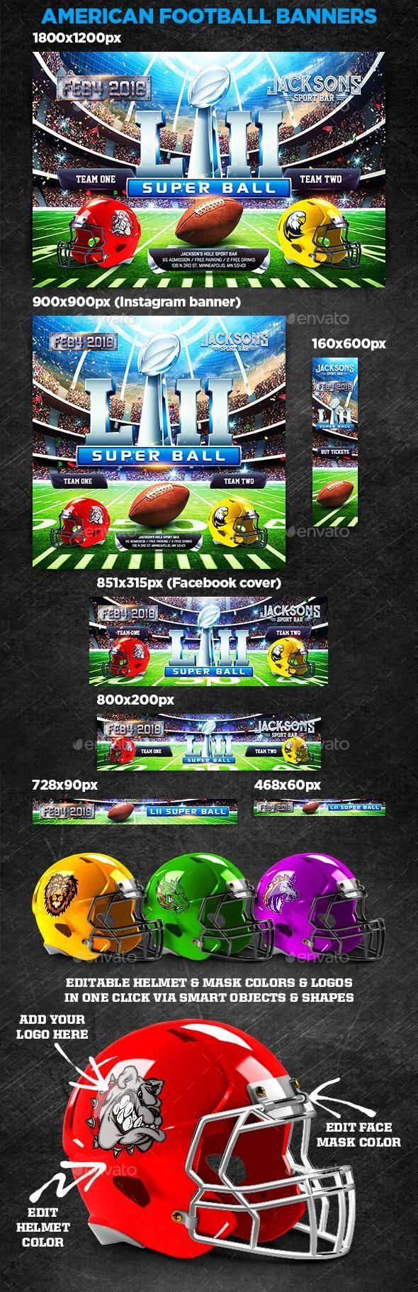 American Football Super Ball Banners Football Banner American Football Banner Ads