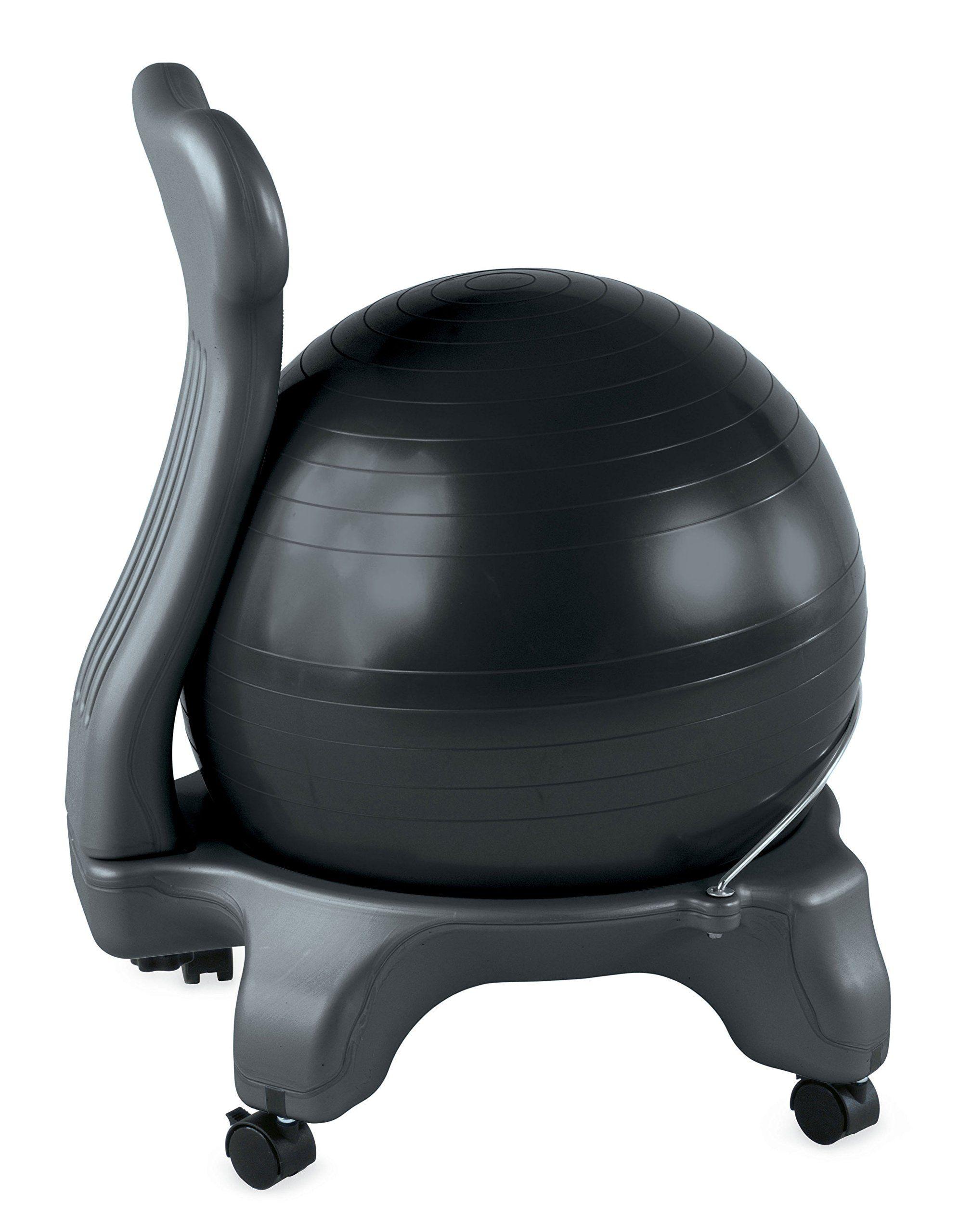 Gym Ball Chair Wedding Covers Alibaba Amazonsmile Gaiam Balance Black Exercise Balls Sports Outdoors