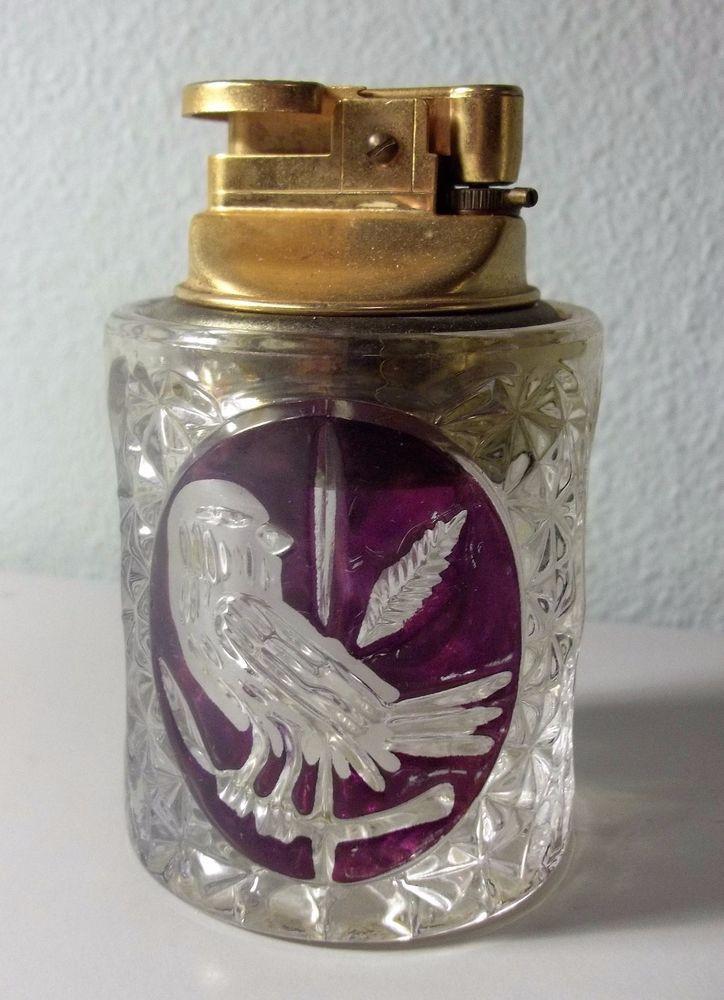 Rare Vhtf Hofbauer Byrdes Crystal Table Lighter Hofbauer With Images Crystals Crystal Collection Rare