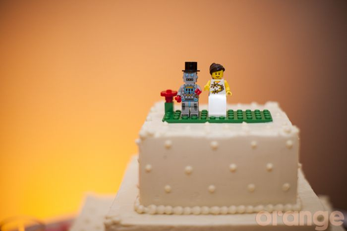 lego wedding cake toppers!
