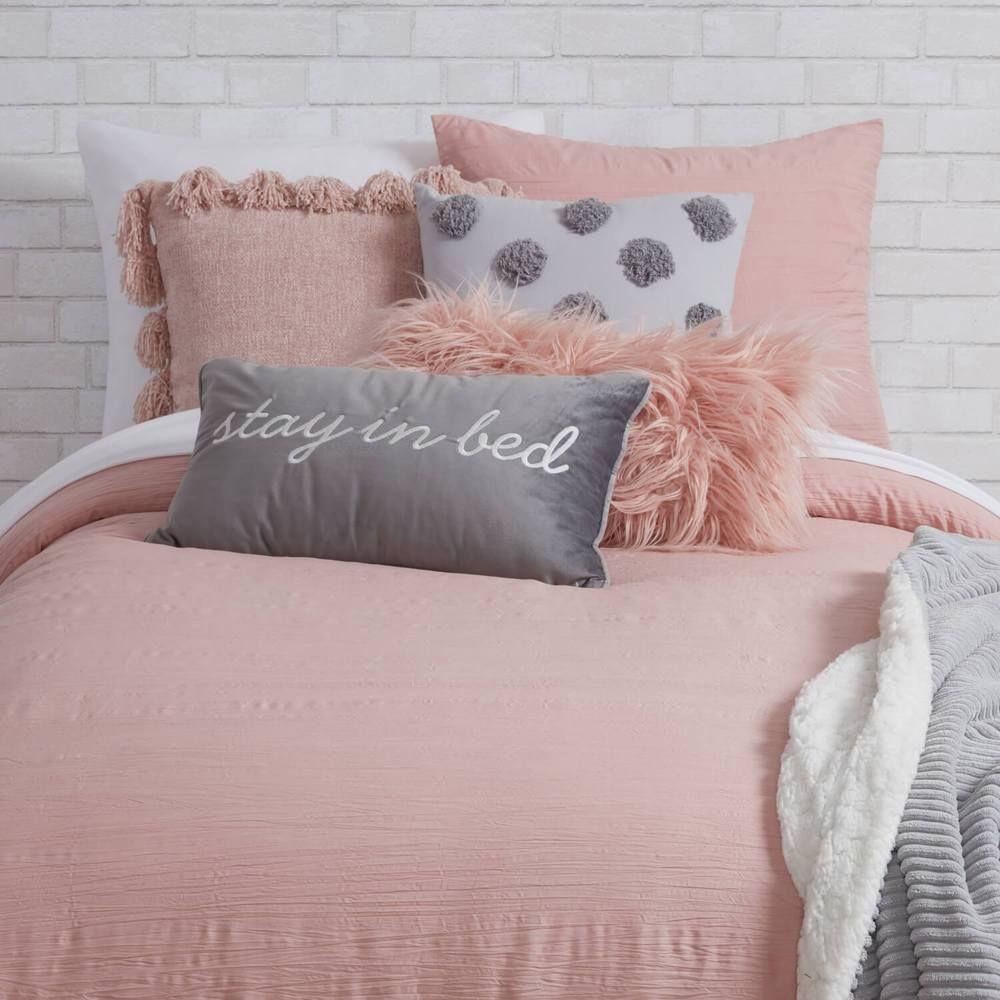 Dusty Rose Scarlett Comforter And Sham Set Twin Twin Xl Girls