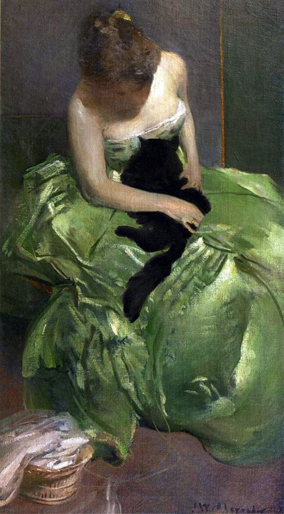 The Green Dress by John White Alexander.