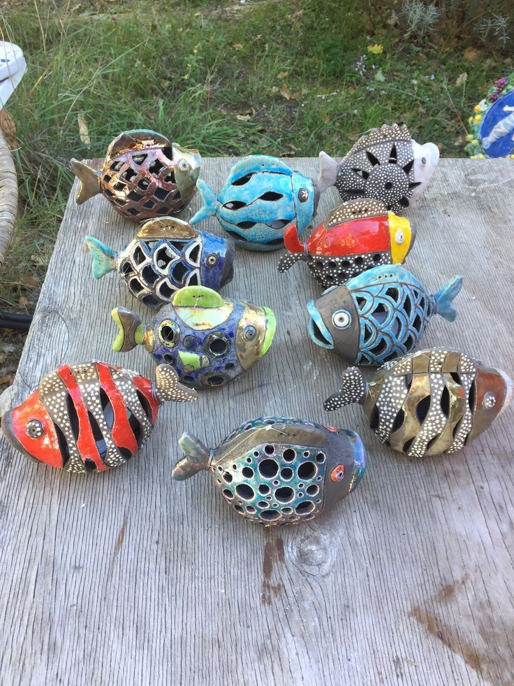 Fische aus Keramik #potteryclasses