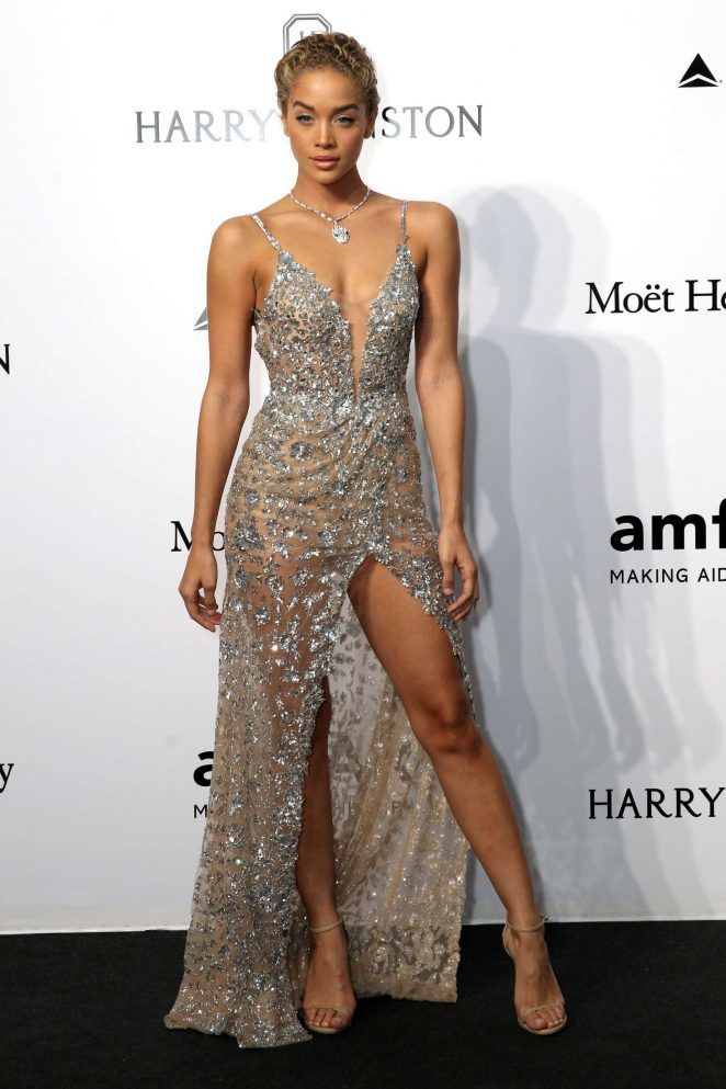 Jasmine Sanders: amfAR Milano 2016 -02 in 2020 | Fancy dresses ...