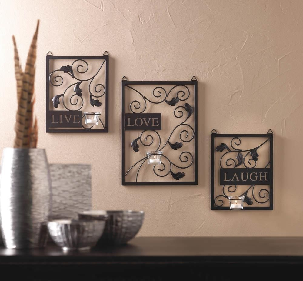 Metal Plaque Wall Decor Live Love Laugh Metal Plaque Candle Holder Wall Decor 10015865