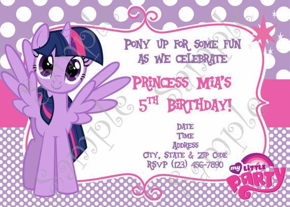 My little pony birthday party invitation por 954onlineinvitations my little pony birthday party invitation por 954onlineinvitations filmwisefo