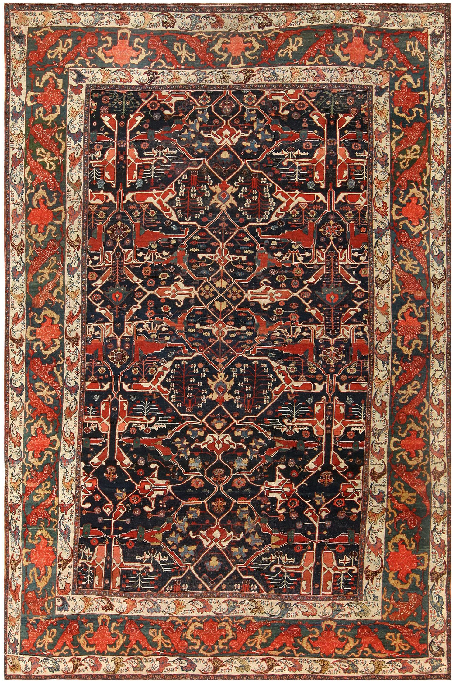 Antique Persian Bidjar Rug 48307 By Nazmiyal Antique Carpets