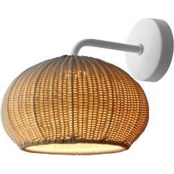 Photo of Bover Garota wall lamp, structure graphite brown / shade brownNostraforma.com