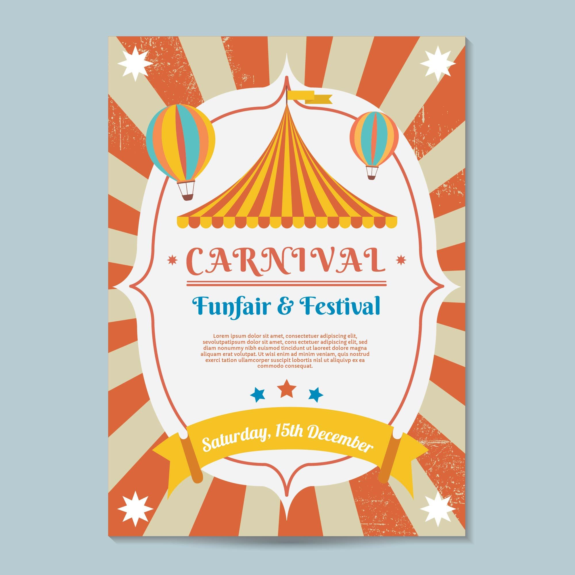 Carnival Poster Template Vector. Choose from thousands of ...