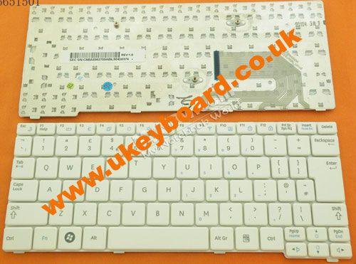 Samsung N150 Laptop Keyboard UK Layout Keyboard White