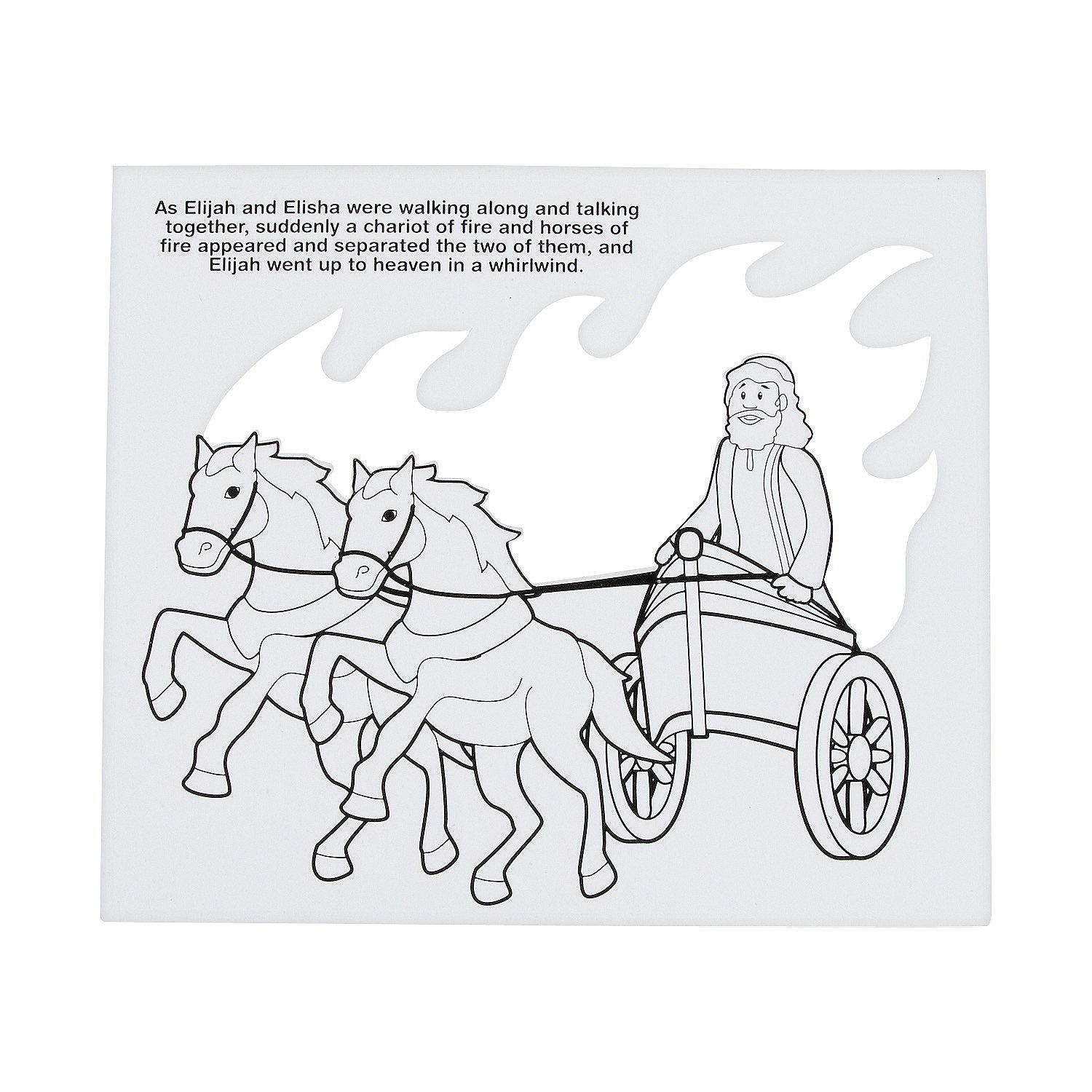 Free coloring pages elijah goes to heaven - Color Your Own Elijah S Chariot Tissue Paper Craft Kit Orientaltrading Com