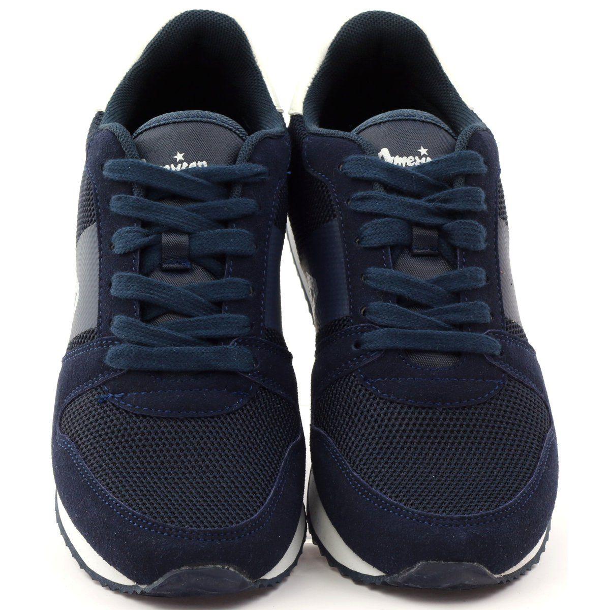 American Club Buty Sportowe Damskie American 17022 Granatowe Sport Shoes Women Sports Shoes Sports Women