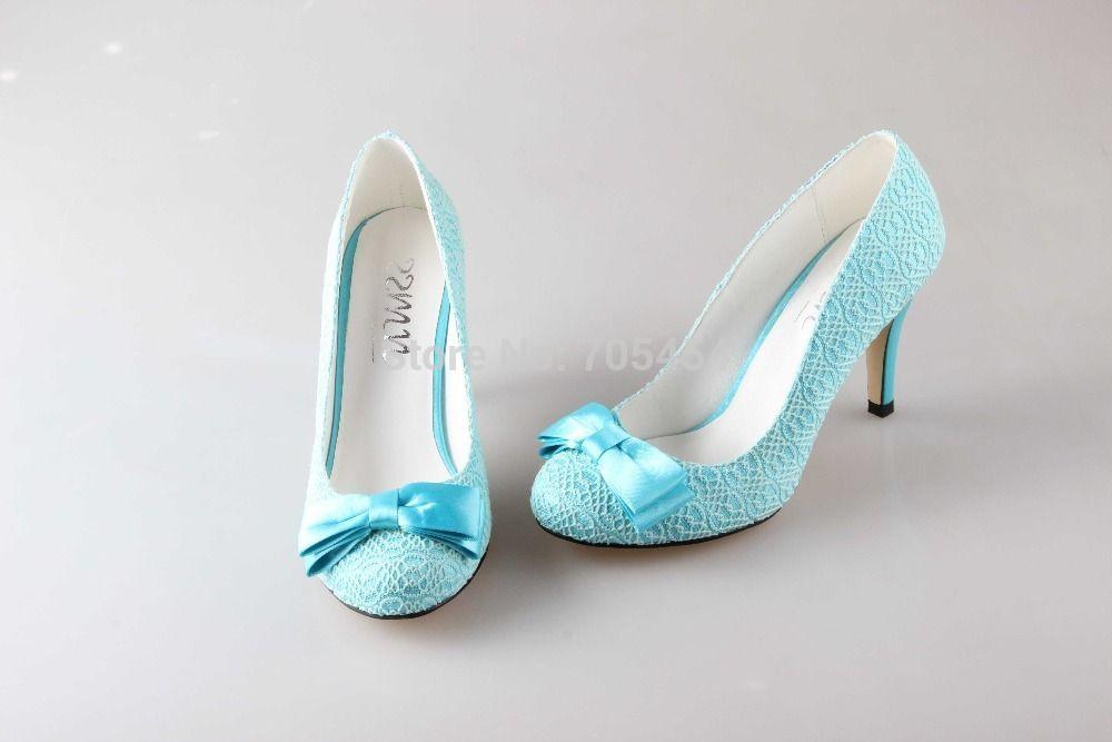 Light Blue Wedding Shoes Flats