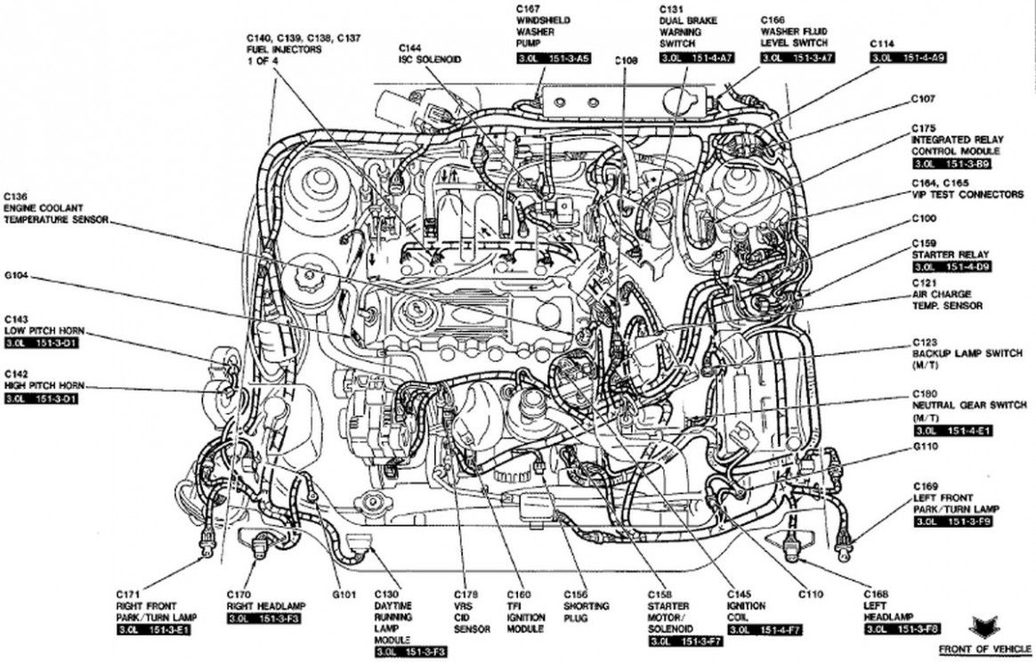 Ford Focus Mk5 Engine Parts Diagram
