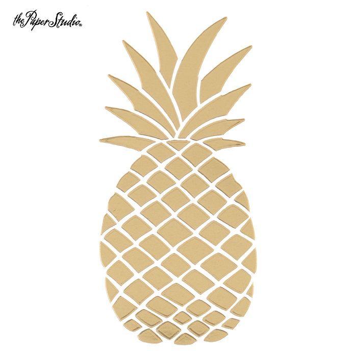 Gold vinyl pineapple sticker