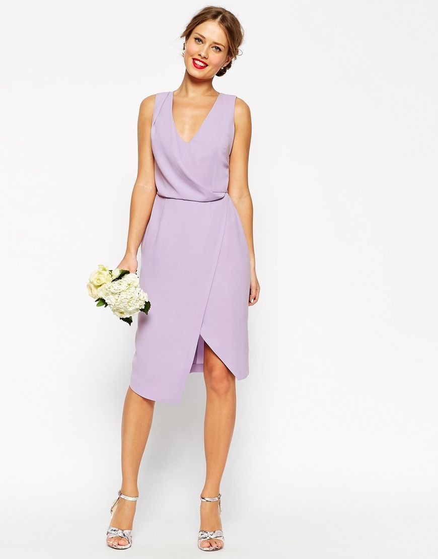 Lavender Wedding Guest Dress