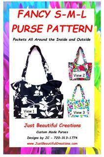 Sewing Purse Pattern Small Bag Medium Purse by JustBeautiful161