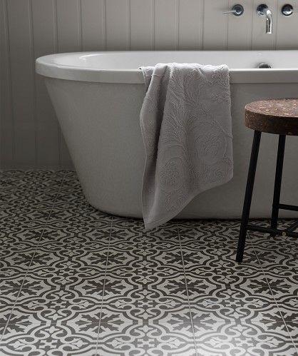 Topps Tiles Topps Tiles Victorian Bathroom Patterned Floor Tiles