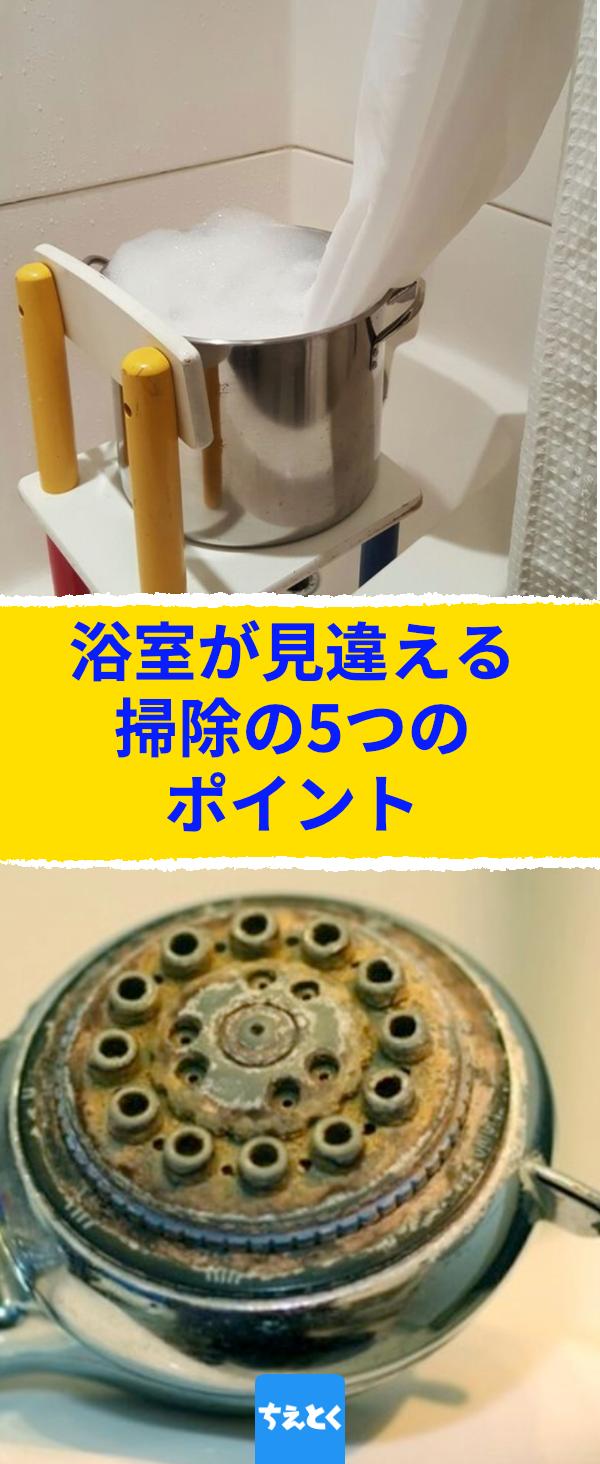 浴室が見違える 掃除の5つのポイント この粉の浴室での働きに目を