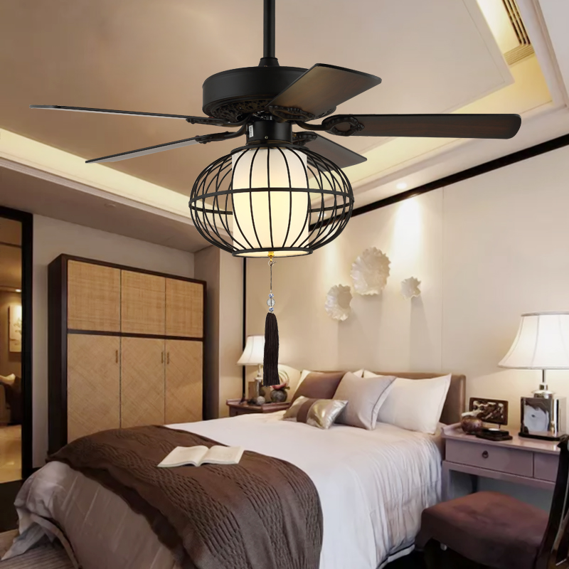 Farmhouse Ceiling Fan With Light And Remote Control Blackqm8053