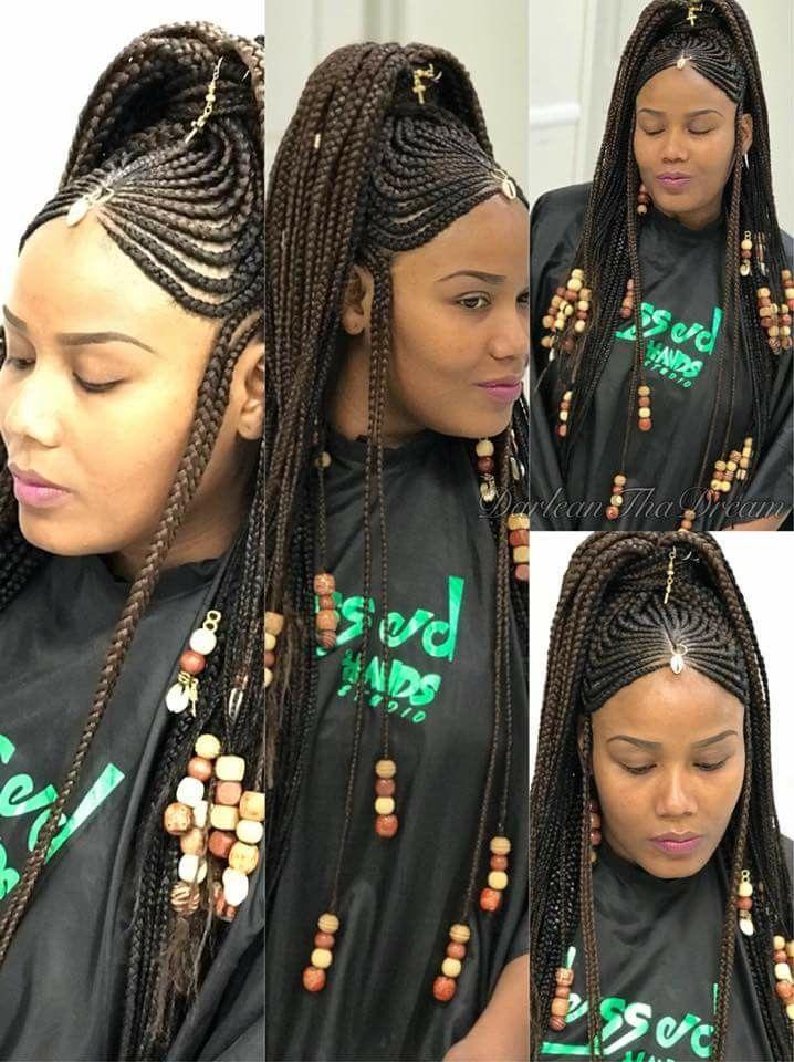 Pin By Myrna Stanio On African Braids New Braided Hairstyles Black Girl Braids Natural Hair Styles