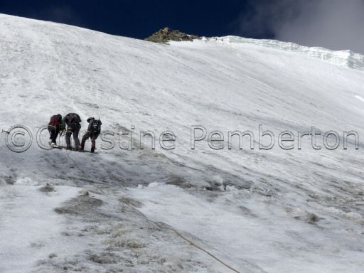 Photo of the day.  The ascent of Mentok Kangri begins in earnest