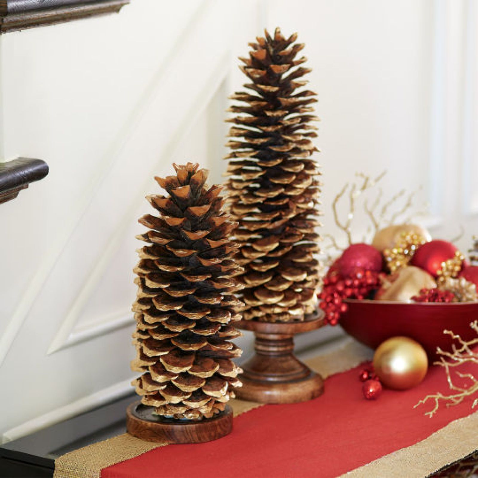 Diy Gold Gilded Giant Pinecone Holiday Decor