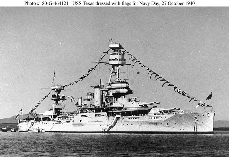 Picture Of The Uss Texas Bb 35 Uss Texas Navy Day Battleship