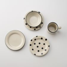 Black Dot Dessert Plate | Schoolhouse Electric & Supply Co.